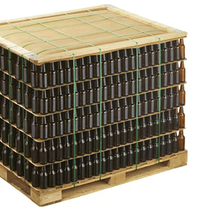 Pallet glass bottles
